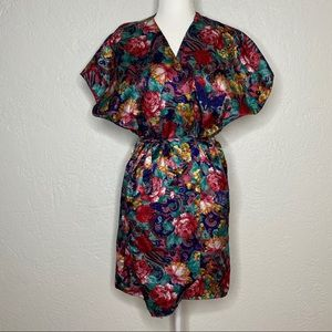 Vintage California Miss Paisley Floral Robe 90s